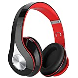 65Hrs Bluetooth Headphones, Bluetooth 5.0 Headphones Over Ear, HiFi Sound, Built-in Microphone, Memory-Protein Earmuffs, Wireless Wired Headset for Home Office, Online Class, Phone, TV