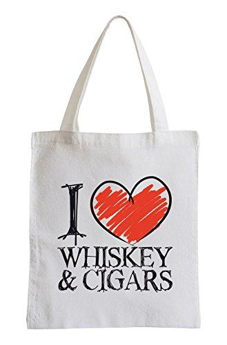 I Love Whisky & Cigars Fun Jutebeutel