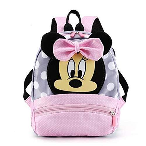 ¡Oferta 2020! Bolso Escolar de Mickey Minnie para niños, niñas, Bolso de bebé, Mochila para niños, Mochila de jardín de Infantes, Mochilas Escolares para niños, Mochila-Color de la Imagen