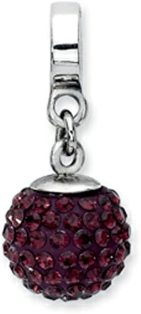 Reflections Rare Sterling Silver Swavorski Crystal Dangle Super sale C Bead Ball