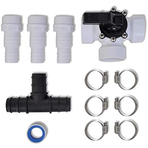 Buy WWZ Bypass Kit for Solar Pool Heater Parts Connected with Hoses