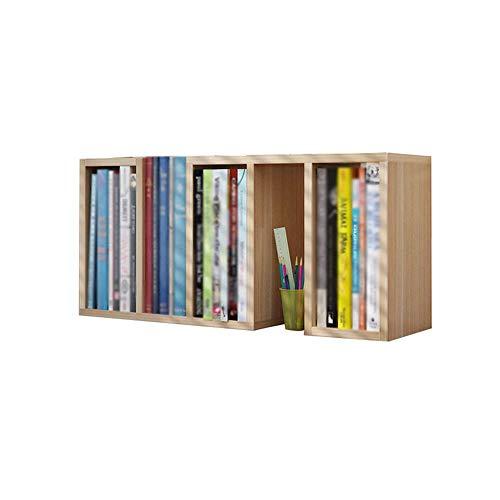 YLCJ Simple kinderbureau boekenkast bibliotheek met combinatie van kleine planken beschikbaar (Kleur: Teak)
