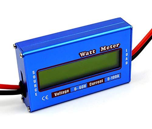 ICQUANZXDC60V/100AパワーアナライザデジタルLCDバランスバッテリ電圧チェッカーワットボルトアンペアメーター