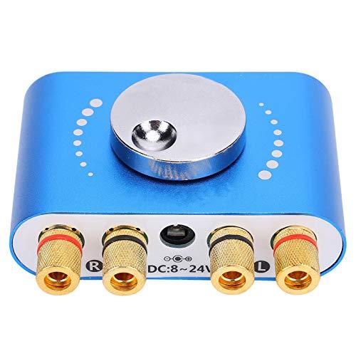 con entrada de disco U Receptor de audio inalámbrico Amplificador de potencia Bluetooth de 2 canales para teléfonos inteligentes para tabletas