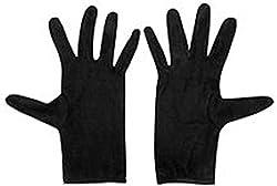 Krystle Boys Cotton Half Hand Protective Black Summer Gloves
