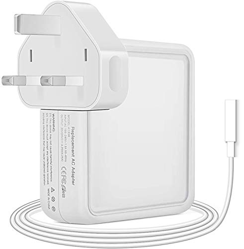 Replacement 60W Power Adapter Magnetic L-Tip Connector Power Adapter, Compatible With Mac Book Pro 11 inch & 13 inch (2009 Late 2010 2011 2012 Summer)