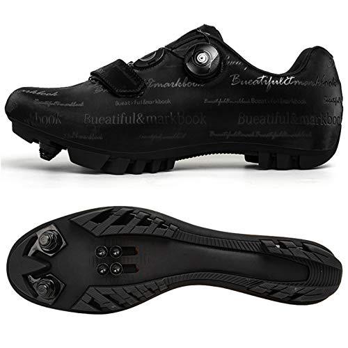 WPW Zapatillas de Ciclismo para Hombre con Cala, Zapatillas de Bicicleta de...