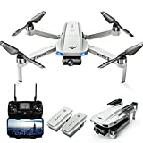 LARVENDER KF102 Drones with Camera for Adults 4K, GPS Drone with 2-Axis Gimbal Camera, Long Range Professional Drones for Beginners 5G FPV Transmission,2 Batteries 50Mins Flight Time Auto Return Home