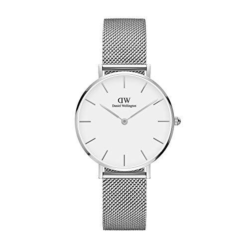 Daniel Wellington Petite Melrose, Silber/Silber Uhr, 32mm, Mesh, für Damen