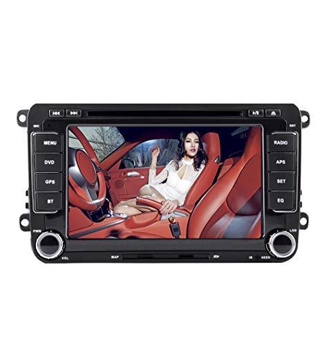 Radio estéreo para coche Android 9.0, 2Din, pantalla táctil HD de 7 pulgadas, reproductor de DVD, navegación GPS paraVW Golf Polo Passat Tiguan Jetta con WiFi, Bluetooth, monitor externo