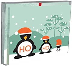 Tree-Free Greetings Ho Ho Ho Penguins Holiday Boxed Cards, 5 x 7 Inches, 12 Cards and Envelopes per Set, Multi-Color (91163)