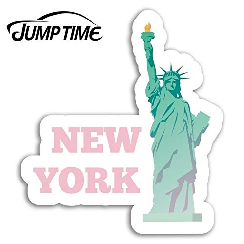 FAFPAY Car sticker Jump time for new york pink vinyl travel stickers laptop sticker usa camper window bumper engine decal car wrapstyle A