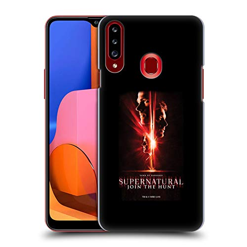 Offizielle Supernatural Sam, Dean & Castiel Schluessel Kunst Harte Rueckseiten Huelle kompatibel mit Samsung Galaxy A20s (2019)