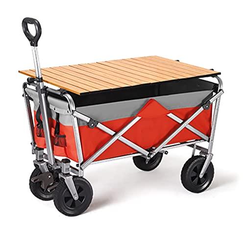 Garden Trolley Kampeerwagen Voor Buiten Met Tafelbord, Opvouwbare En Draagbare Opbergtrolley Voor Vissen/Tuin/Picknick…