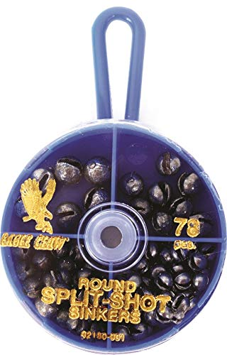 Eagle Claw Split Shot Sinker Assortment, 78 PC