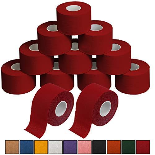 ALPIDEX 12 x Sport-Tape 3,8 cm x 10 m in 10, Farbe:rot
