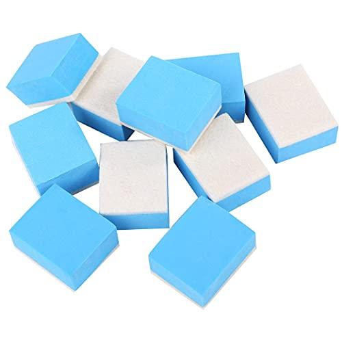 ルボナリエ ウロコ取り スポンジ 10個セット コンパウンド ガラスコーティング 洗車 スポンジ 車 うろこ取り 油膜取り コーティング剤 水垢 油膜とり (ブルー 10個)