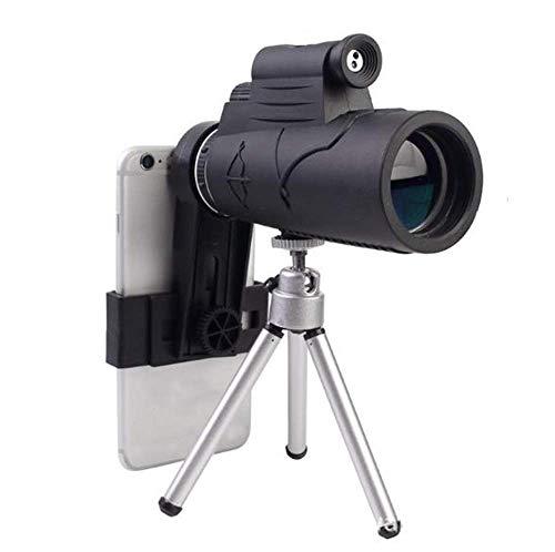 LXHJZ Binoculares Telescopio HD Monocular portátil, Óptica Alta Potencia, Gran Campo visión Gran Angular Función Linterna Prisma Observación Aves Concierto Viaje