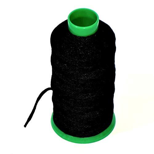 Matsa Cono 100m Cordón Mascarillas, Goma 3mm para Costura, Manualidades, DIY, Cuerda Hilo Elástico para Coser, Ropa, Poliéster, Negro, Único