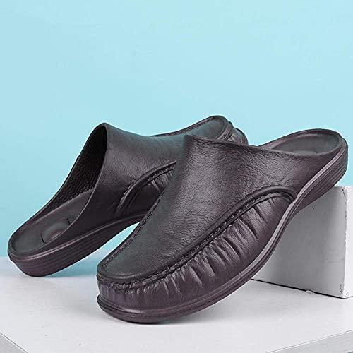 LDDZB Zapatillas Unisex para Mujeres/Hombres, Zapatos de Media Deslizamiento Inferiores de Moda, Anti-Patinaje casero-Brown_44, Zapatillas de Ducha Sandalias deslizantes (Color : -, Size : -)