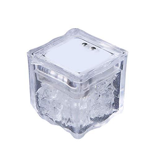 Portaghiaccio 3pcs colorato cubetti di ghiaccio incandescente cubetti di vino decorazione di vetro LED fluorescent block lampeggiante induzione di ghiaccio lampada da sposa San Valentino KTV B Raffred