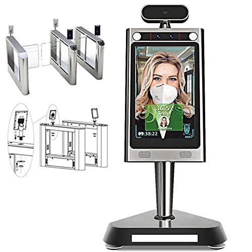 LVHI Sistema de medición de temperatura de reconocimiento facial Medición de temperatura infrarroja sin contacto con alarma de voz automática+paso rápido para la entrada de la empresa