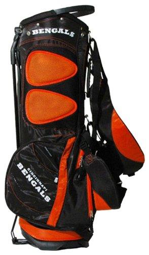 Team Golf NFL Cincinnati Bengals Fairway Golf Stand Bag, Lightweight, 14-way Top, Spring Action Stand, Insulated Cooler Pocket, Padded Strap, Umbrella Holder & Removable Rain Hood