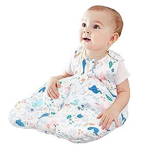 Viedouce Saco de Dormir para Bebé,Saco de Dormir de Algodón Bio para Bebés,Súper Suave,Longitud 80cm para Niño Niña(2.5 Tog,3-18 Meses)