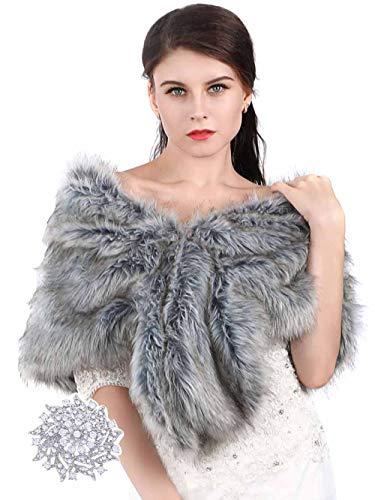 Aukmla - Chal - para mujer gris gris Talla única