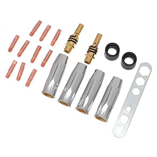 Angoily 19 Unids/Set MB15 15AK Boquillas Puntas de Contacto Soporte Soldador MIG Kit de Consumibles 0. Adaptador de Difusor de Boquilla de 8Mm