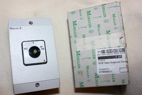Eaton 215224 Umschalter, Kontakte: 8, 32 A, Frontschild: Netz-0-Notstrom, 45 Grad, Rastend, Aufbau