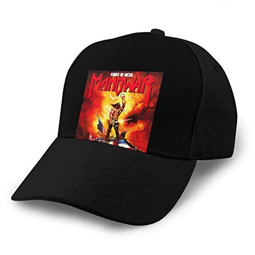 Damen Herren Manowar-Kings-of Metal Logo Black Baseball Hat Cap Baseballcap Kappe Flatbrim Mütze Für Jungen Mädchen