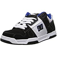 DC Shoes Stag, Zapatillas de Estar por casa para Hombre, White/Black/Blue, 40 EU