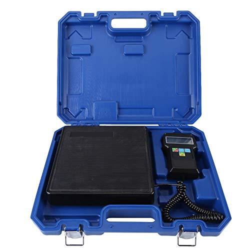KAUTO Zerone- Báscula electrónica de refrigerante, 220 LB / 100 kg Báscula Digital de Carga de refrigerante electrónica con Estuche Azul para Aire Acondicionado