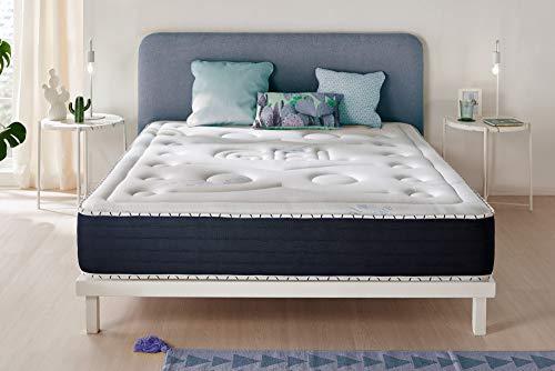 Naturalex | Comfort Spa | Matratze 135x190 cm | Extra Komfort Memory Foam Hochdicht High Resilience | Blue-Latex-Technologie Multischicht | 7 Komfort-Zonen | SPA-Effekt | Ideale Punktelastizität