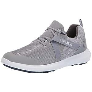 FootJoy Men's FJ Flex Previous Season Style Golf Shoes, Grey, 10 M US