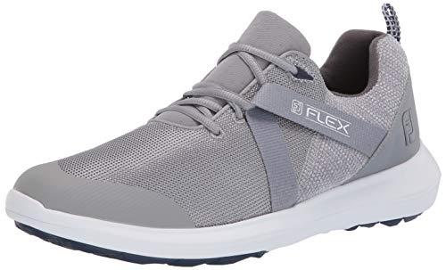 FootJoy Men's FJ Flex Golf Shoes, Grey, 10.5 M US