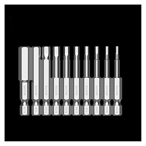 GYY 1/4 Pulgadas Imperial S2 Aleación de Acero Electric Destornillador bit Destornillador Magnético Set 10pcs 50 / 100mm (Color : 10Pcs 50mm)