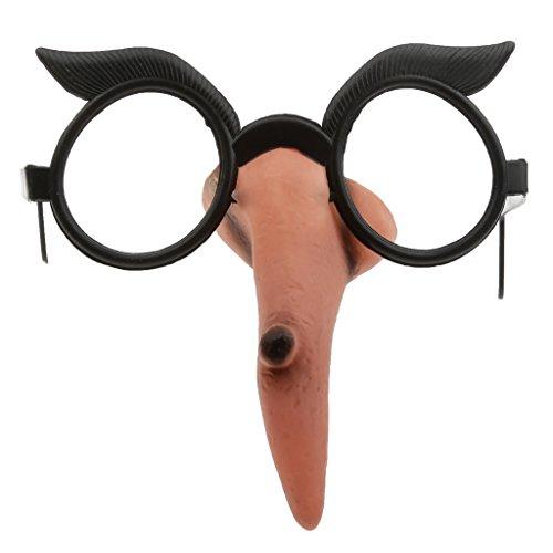 perfeclan Kunststoff Partybrille Spaßbrille Cosplay Brille für Hexe, Geschenk für Freunde und Kinder