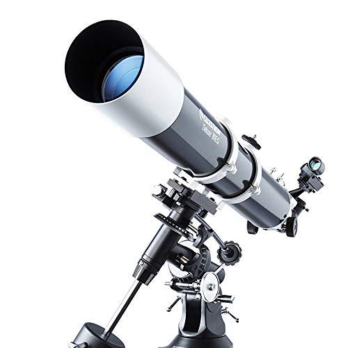 RUIXFLR Leicht Fernrohr, Junior Spektiv Mit Zoomfunktion, Drehbarem Tubus, Vollvergütet Mit Robuster Spiegelkörper Inklusiv Tischstativ Für Stargazing Geschenk