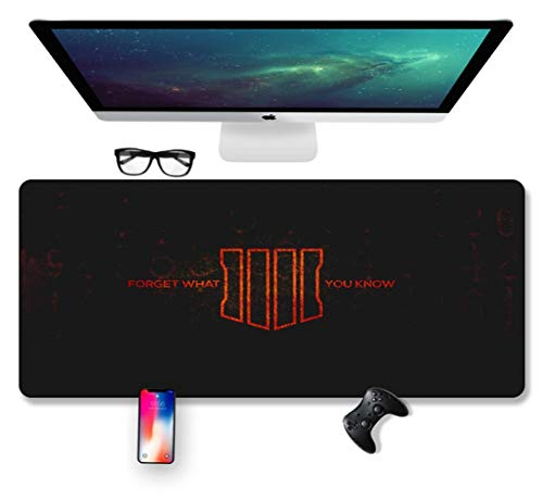 Mouse Mat Mission Warrior, Black Action 700X300mm muismat, Speed Gaming Mousepad, Extended XXL grote Mousemat met 2mm-dikke basis, voor notebooks, PC, C