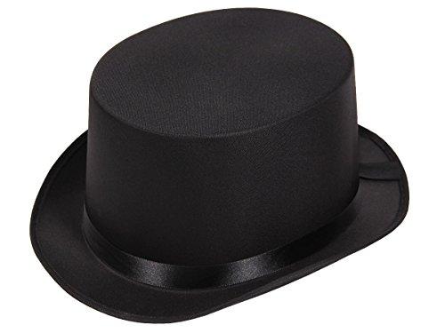 Alsino Gala Hut Zylinderhut Damen Herren Zaubererhut 04133, Farbe: schwarz, Kopfumfang: 58 cm