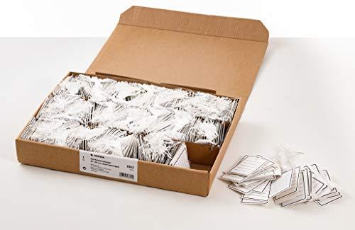 HERMA 6842 Warenanhänger mit Öse, Faden und Splint (48 x 65 mm, groß, Fadenlänge ca. 8 cm) Anhängeschilder aus Karton zum Beschriften, 1.000 Preisetiketten, weiß