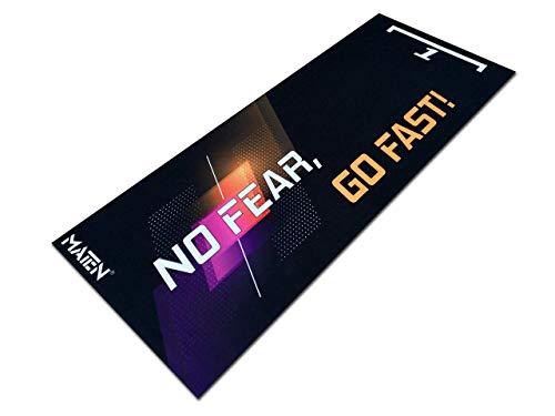 Alfombra para moto garaje y paddock para submoto Mat.en, de moqueta: no fear, go fast! 200 x 80 cm