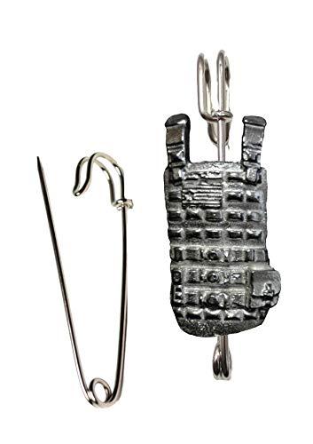 FT432 kogelvrij vest 2.5x5.2cm sjaal, broche en schacht pin 3