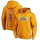 ADSW Los Angeles Lakers #23 - Sudadera con capucha para baloncesto LeBron James Casual con capucha y bolsillos - Naranja