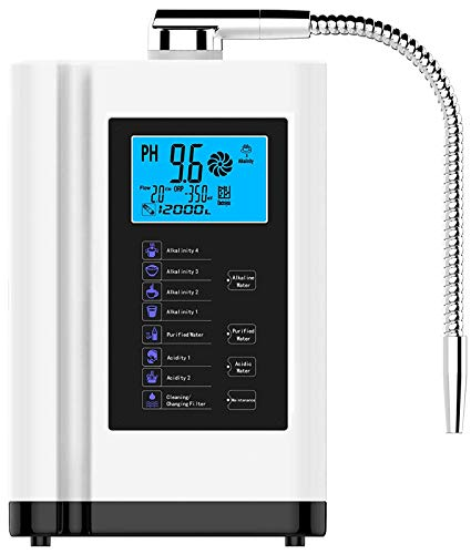 AGWIM Alkaline Water Machine AG7.0, PH 3.5-10.5 Water Ionizer Purifier, Home Water Filter System, Up to -500mV ORP, 6000L Per Filter, 7 Water Settings, Auto-Cleaning (White)