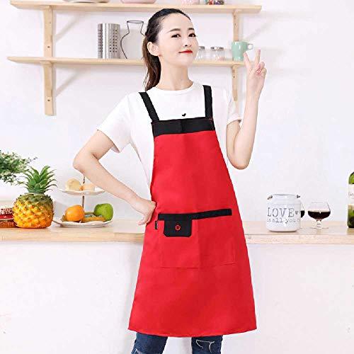 wangtao Horeca Supermarkt Melkthee Hot Pot Restaurant Ober Werkkleding Schort Groot rood