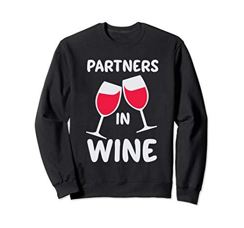 Partner In Wein Lustig, Niedlich, Rot, Weiß Wein-Liebhaber Sweatshirt