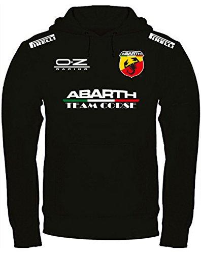 Print & Design Sweatshirt Abarth Kapuzenpullover personalisierte handgefertigt (s, Schwarz)